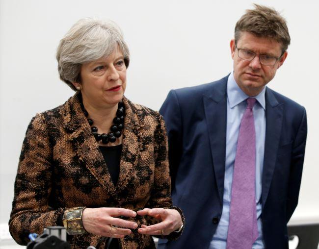 英国首相特蕾莎·梅和英国商业大臣格雷格·克拉克