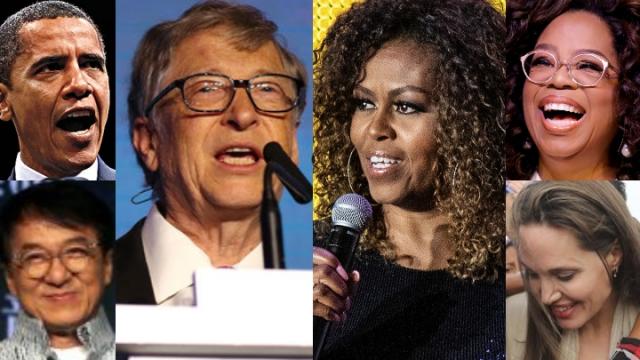 盖茨与米歇尔分别获选2019年全球声望最高的男性与女性。(美联社)