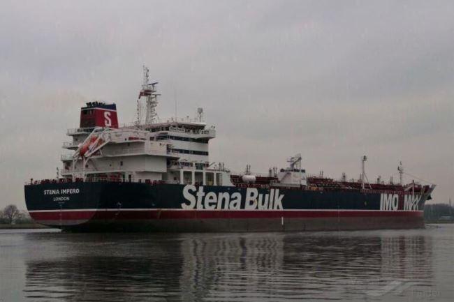 被伊朗扣押的悬挂英国国旗的油轮Stena Impero号(2019年7月19号)