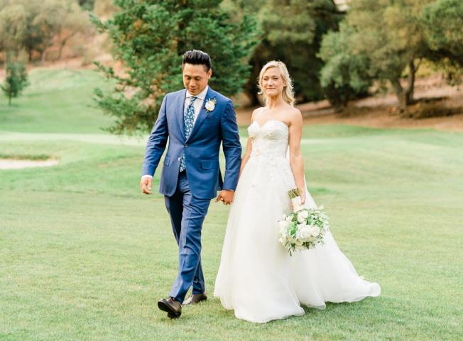朱浩伟与妻子Kristin Hodge在2018年结婚。(朱浩伟提供)
