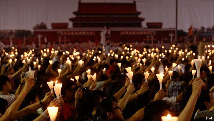 Hong Kong Tiananmen Gedenktag 2012 (AP)