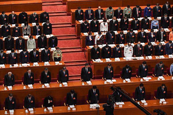 2020年5月22日,中共全国人大会上。(LEO RAMIREZ/AFP via Getty Images)