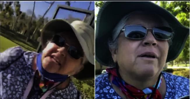 因在托伦斯市(Torrance)公然歧视亚裔而在网上爆红的「托伦斯凯伦」(Torrance Karen)(图片为网络报导截图)