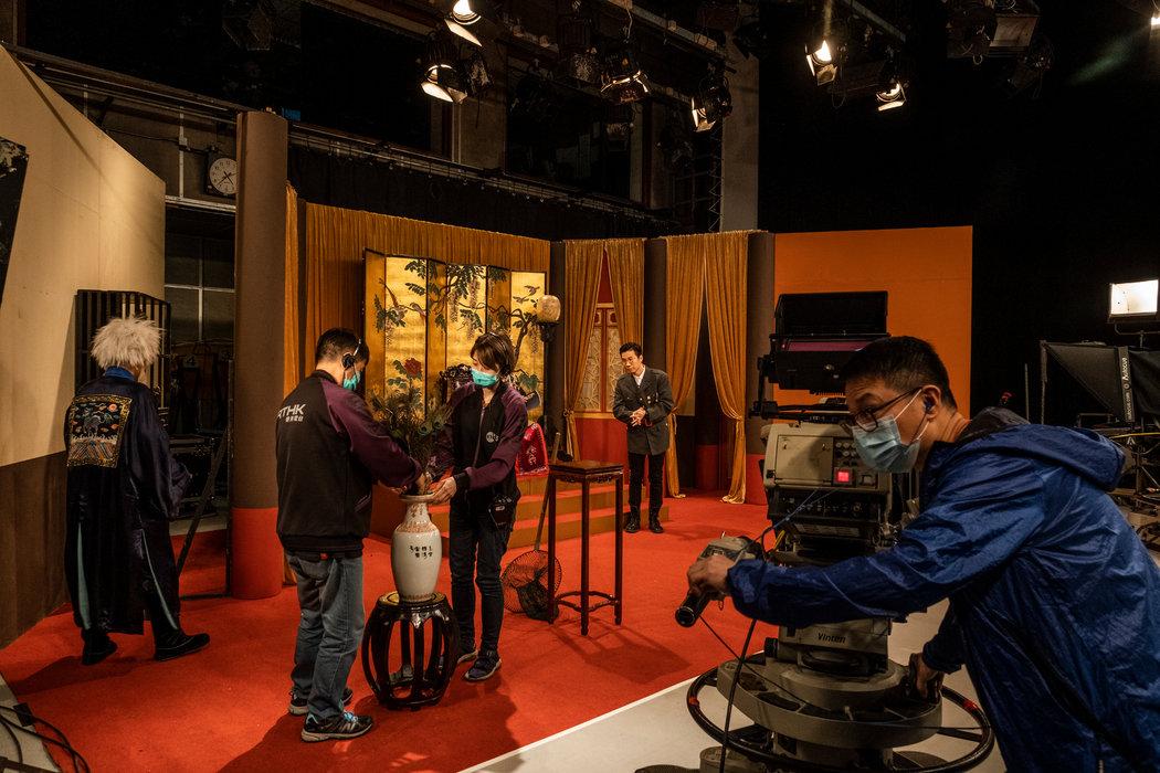 今年6月,香港电台《头条新闻》节目的演播室。这个节目在遭到政府抱怨后停播。