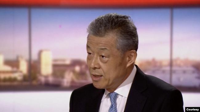 中国驻英大使刘晓明2020年7月19日接受BBC节目采访(BBC视频截图)
