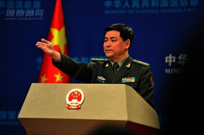 中國國防部新聞發言人任國強。(中國國防部官網)