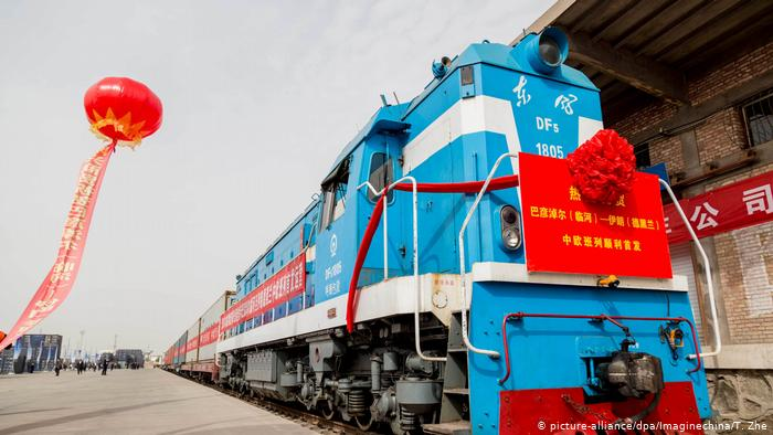 China Zug der China Railway Express f?hrt nach Iran (picture-alliance/dpa/Imaginechina/T. Zhe)