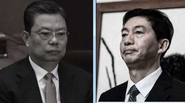 中纪委书记赵乐际(左)和香港中联办主任骆惠宁(右)