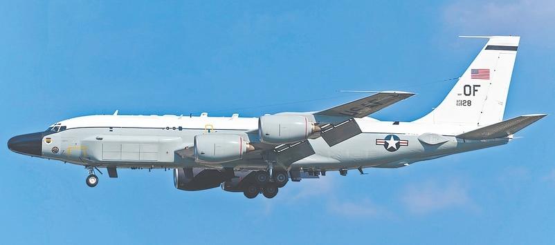 ■美军侦察机昨早接近南海军演地区。 互联网