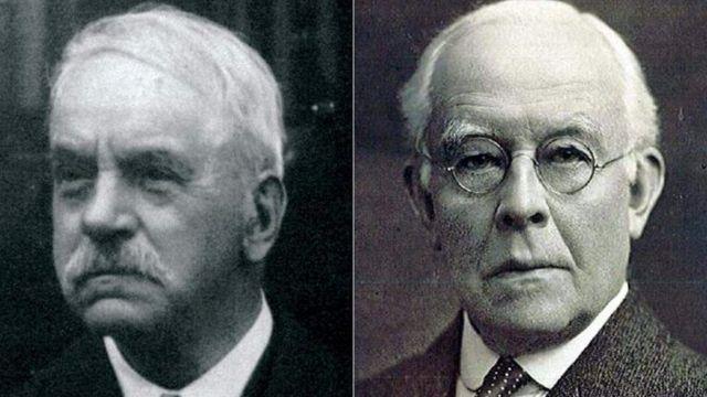 约翰·李斯特(John Lister, 左)和亚瑟·波雷尔(Arthur Burrell, 右)