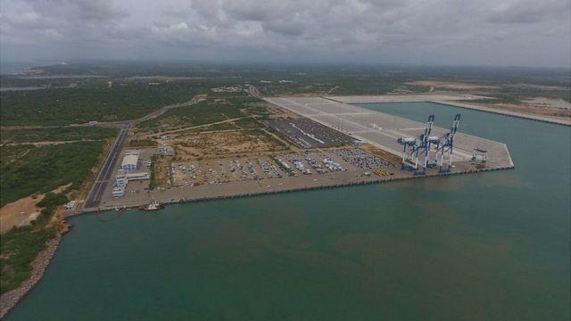 斯里兰卡的汉班托塔港口