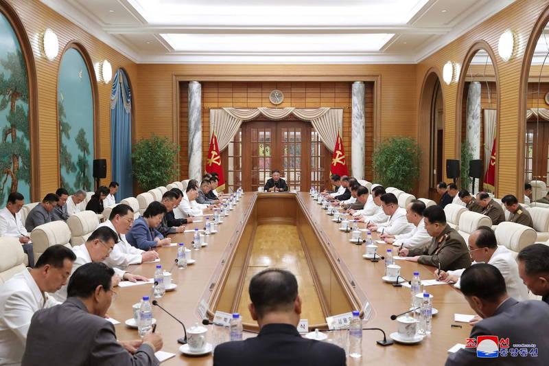 北韩劳动党周二举行中央政治局会议。(法新社)