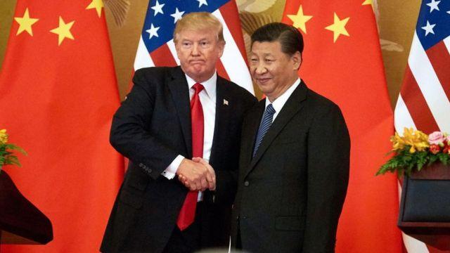 美国总统特朗普和中国国家主席习近平