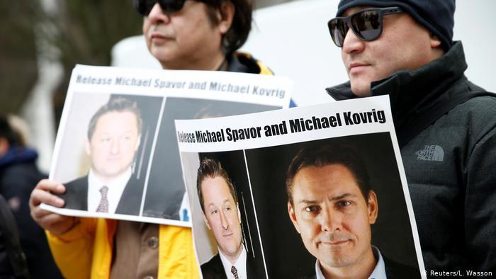 Kanada Vancouer | Menschen fordern Freilassung von Michael Kovrig und Michael Spavor (Reuters/L. Wasson)