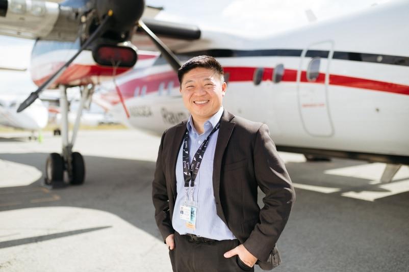 谢博元由小型初创航空公司创办人,摇身一变成为Ravn新总裁。