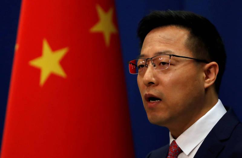 中國外交部發言人趙立堅(見圖)今天痛斥瑞典「違反國際經貿投資規則」,還稱「中國市場自由開放」,要脅瑞典糾正錯誤決定,以防影響雙邊貿易往來。(路透)