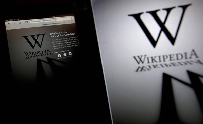 中國政府公告,中國籍民眾張韜違法連上維基百科找資料,被處以「當場訓誡」的「警告」。(彭博檔案照)