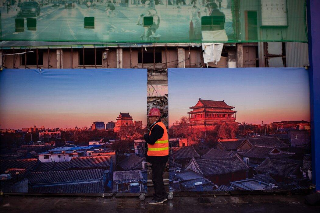 周三,北京的一个建筑工地。