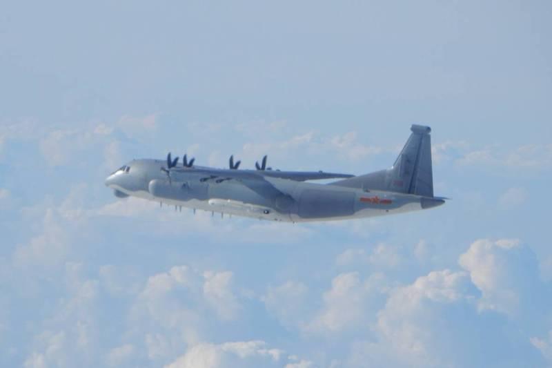 中共軍機近日頻繁擾台。(資料照,國防部提供)