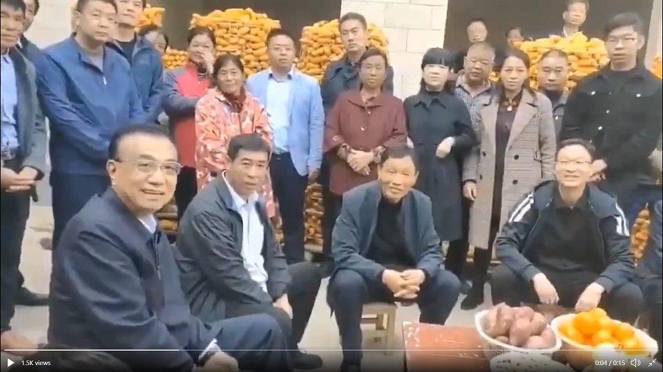 """李克强在河南安阳考察,周围都是""""群众演员"""""""