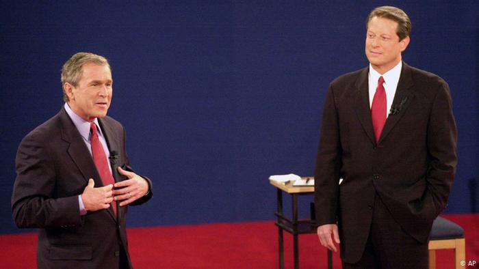 Fernsehduell George Bush und Al Gore (AP)