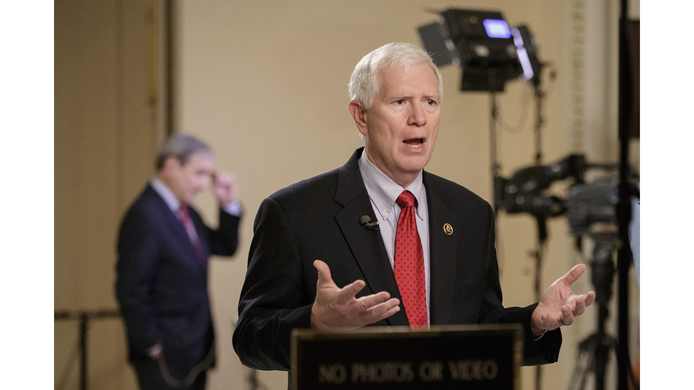 联邦众议院共和党议员布鲁克斯(Mo Brooks )在发言。( AP Photo/J. Scott Applewhite)