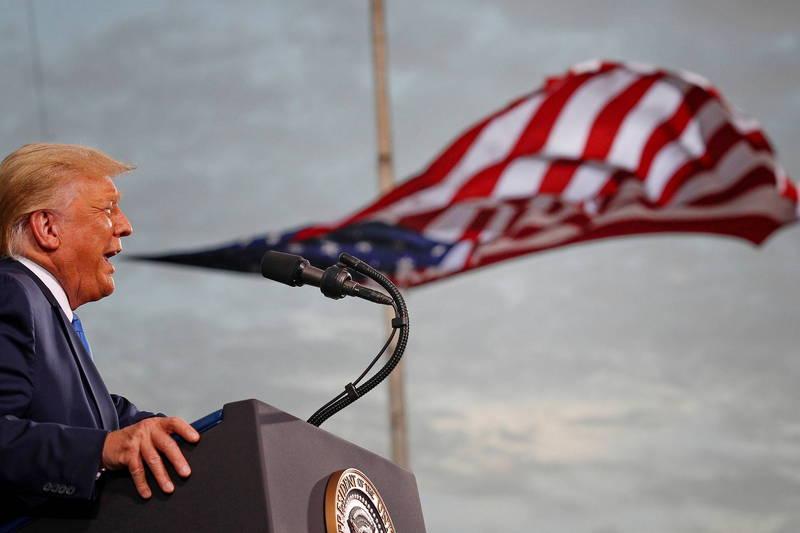 美國一項民調顯示,川普最被看好成為下一屆的共和黨候選人。(路透)