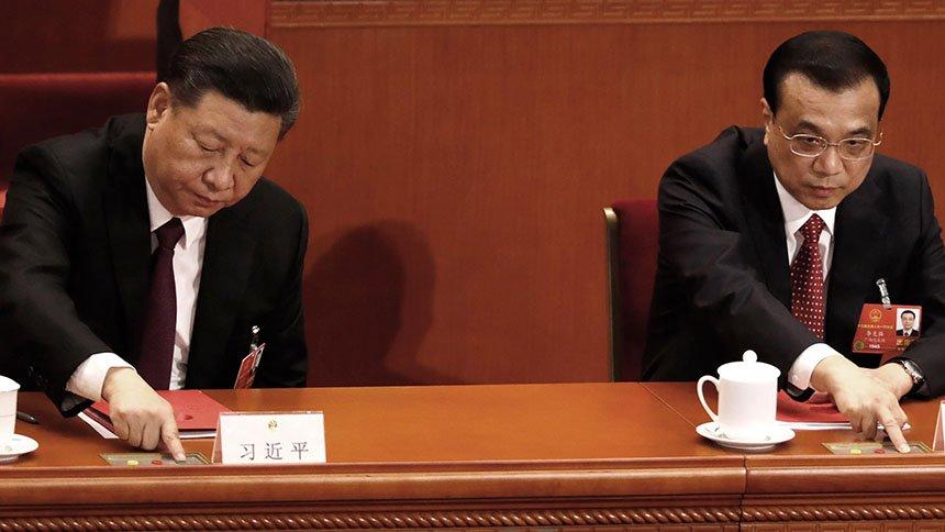 受中共疫情影响延宕的中共两会将于5月21日在北京召开。图为习近平和李克强(美联社)