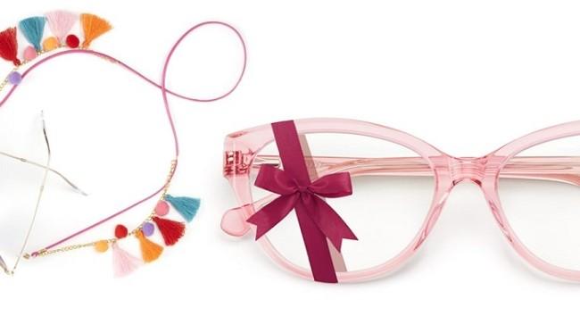 萝莉粉色猫眼款眼镜