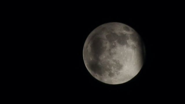 The moon is seen during a penumbral lunar eclipse on November 30, 2020 in Beijing, China.