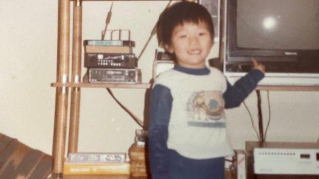 China Mac as a child