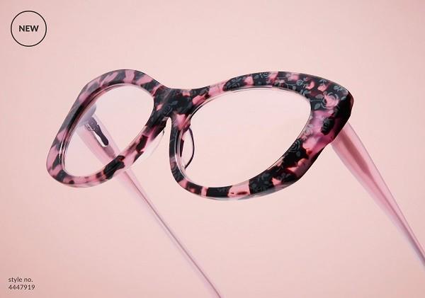 造型款粉玳瑁色眼镜