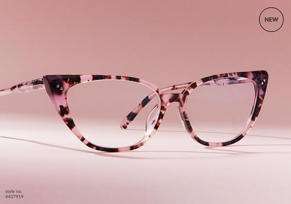 粉玳瑁色细致款眼镜