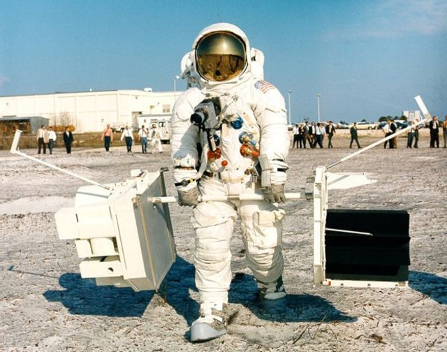 Jim Lovell in full astronaut gear