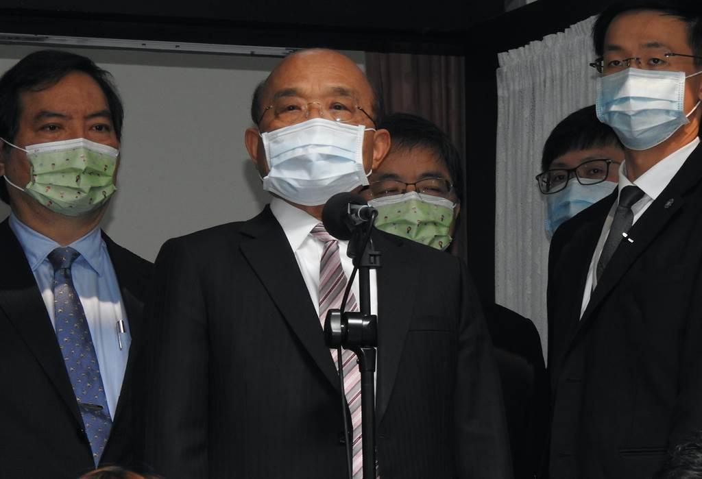 行政院长苏贞昌今天继续到立法院施政总质询。(赵婉淳摄)