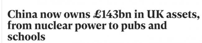 1340亿英镑,看看中国人买了多少英国资产