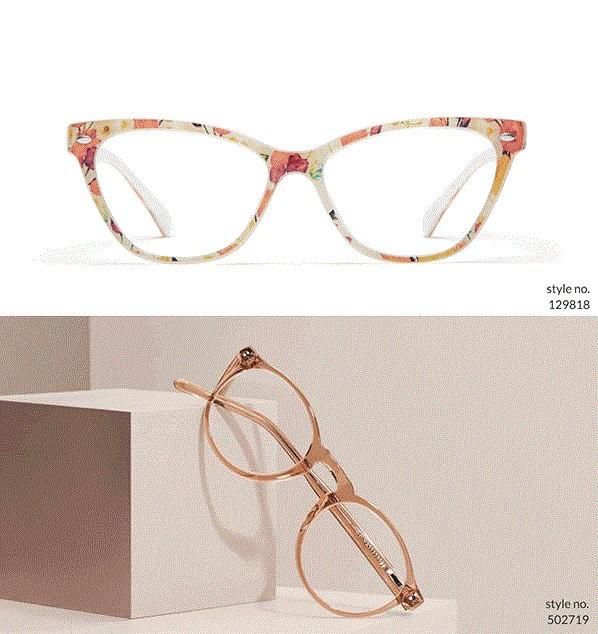 圆形款纯色眼镜