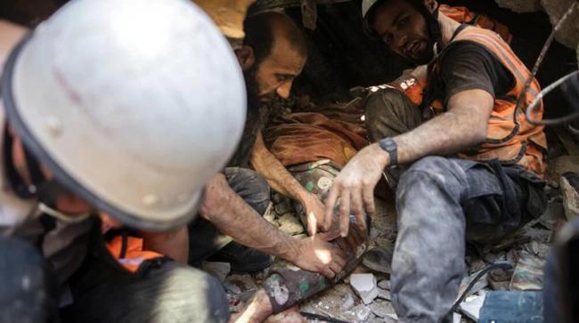 只用五分钟:以军炸毁加沙3座住宅大厦 惨不忍睹