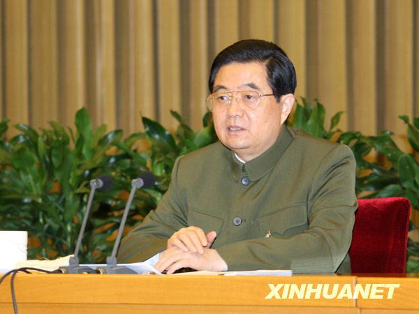 (组图)胡锦涛一身军装格外严肃 释放最强信号