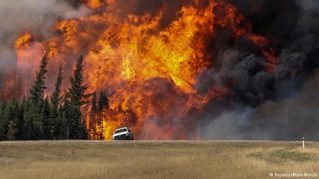 加拿大森林大火失去控制