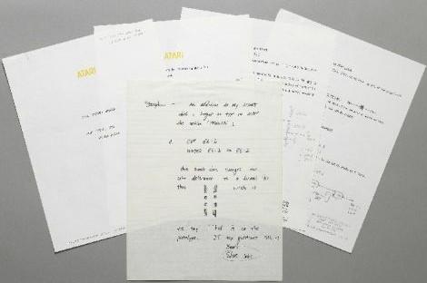 乔布斯罕有手稿公开 预计可拍卖1.5万美元