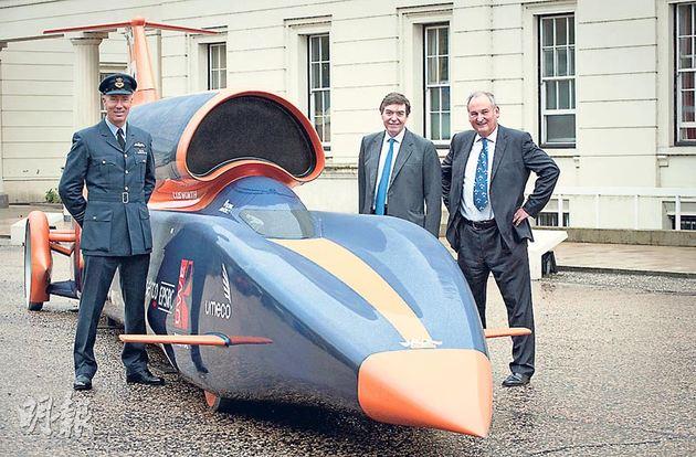 超音速火箭车挑战地上最强 时速1690公里