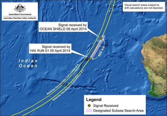 中澳接受信号海域图示公布 均在握手弧线上