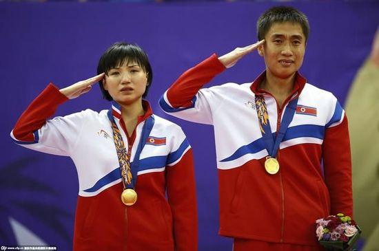 朝鲜混双夺冠飙泪 感恩金正恩关怀