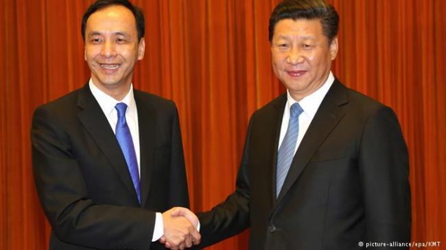 """朱立伦习近平""""过招"""" 台湾媒体很激动"""