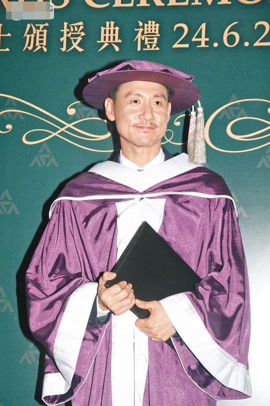 张学友获授荣誉院士 期待看女儿毕业礼
