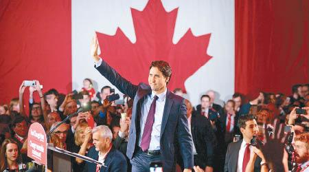 第二年轻总理 誓言让加拿大恢复真自由