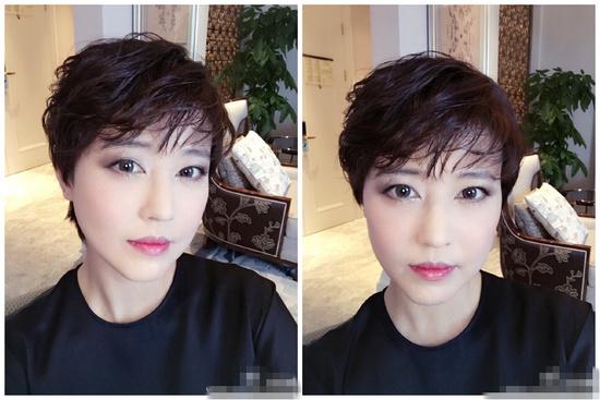 49岁周海媚剪短发 网友怒赞还是那么美
