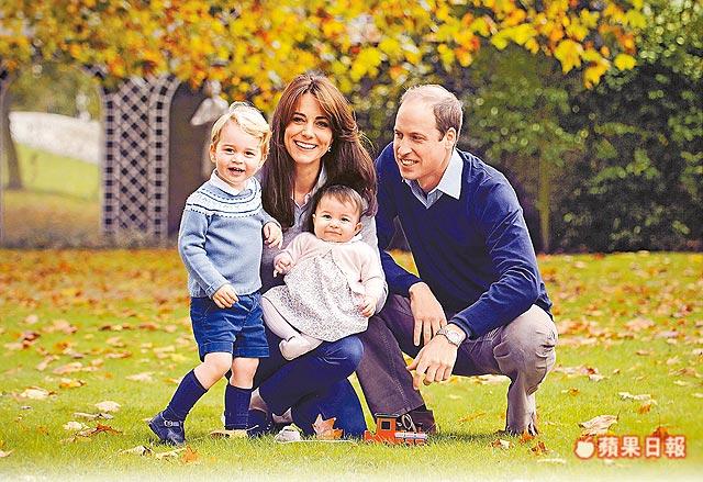 超温馨 威廉王子再晒全家福