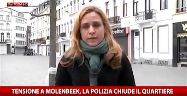 比利时直播 女记者突遭不明人士攻击!